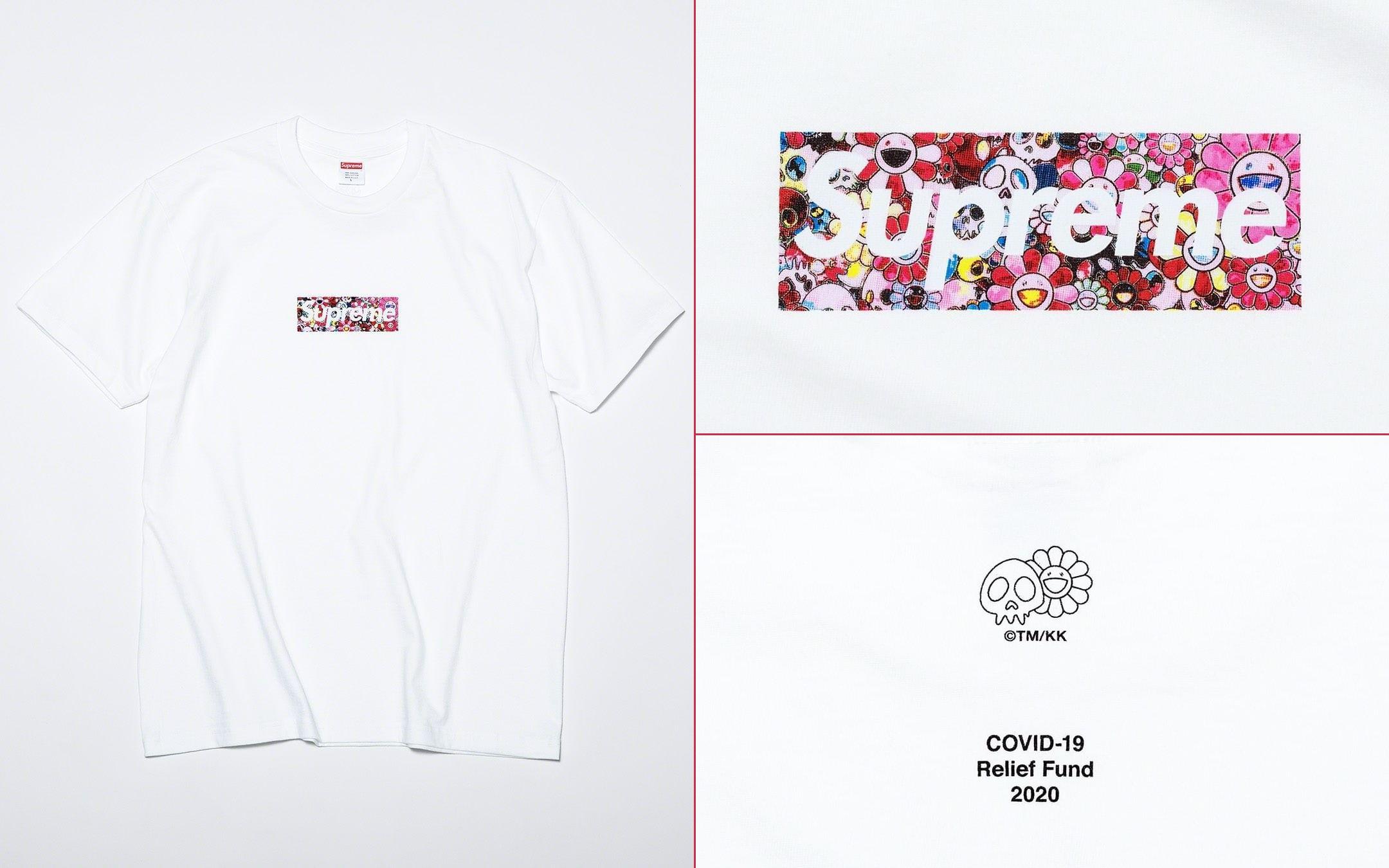 Supreme Box Logo Takashi Murakami Covid Relief Tee